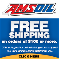 Free shipping on Amsoil orders over $100